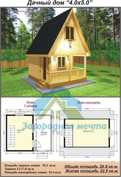 Каркасный дом 4 на 4